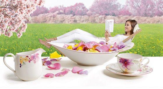 Когда в душе́ поет весна… Немецкая посуда Villeroy Boch.