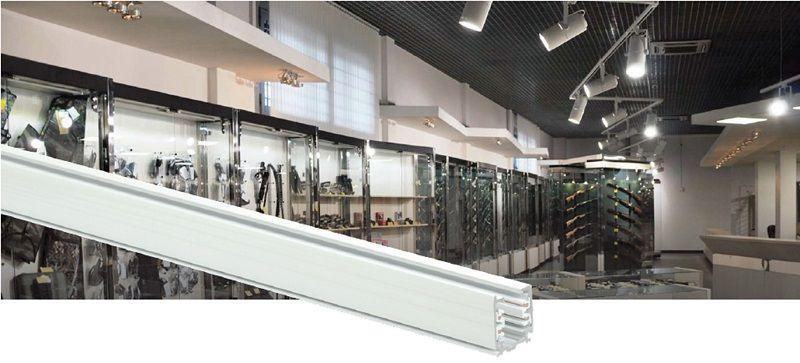Трехфазный осветительный шинопровод для создания систем акцентного освещения