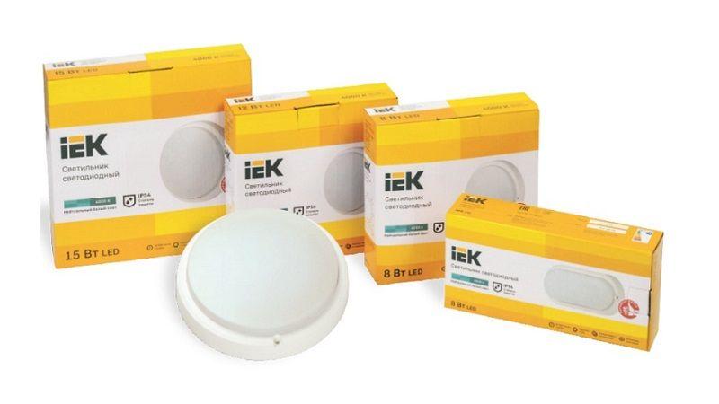 Новые светодиодные светильники ДПО 4001-4200D IEK: с цветовой температурой 6500 К и инфракрасным датчиком движения