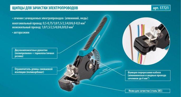 Щипцы для зачистки электропроводов