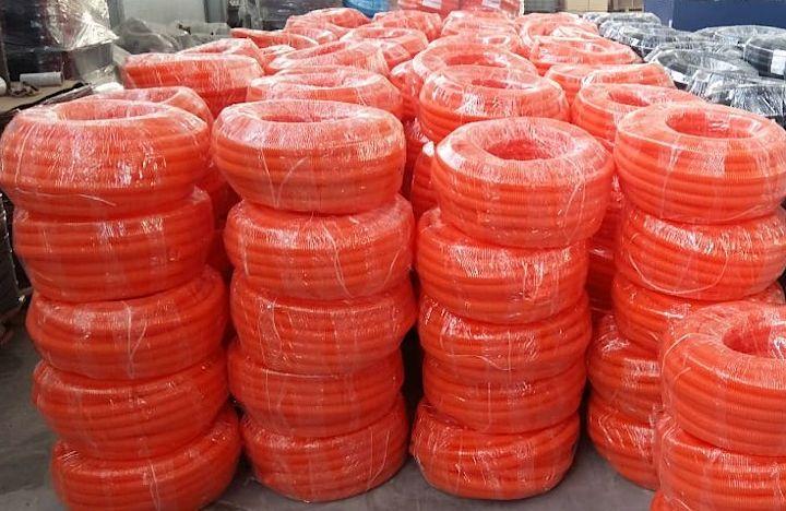 Оранжевая гофротруба ПНД повышенной прочности