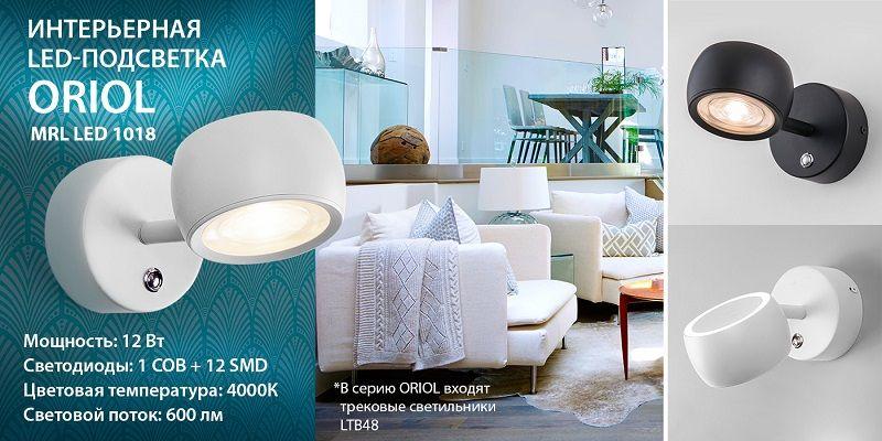 Настенный светодиодный светильник Elektrostandard Oriol.