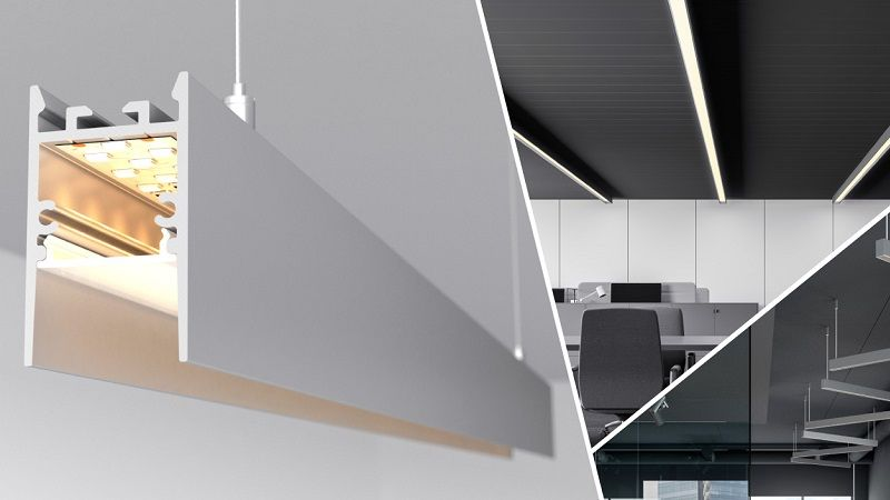 Алюминиевый профиль для светодиодной ленты COMFORT - скрытый источник света.