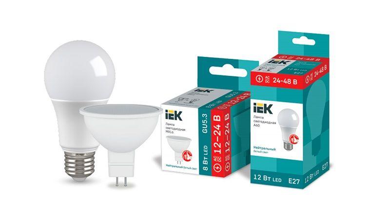 Низковольтные светодиодные лампы IEK – для сетей 12-24 / 24-48 В постоянного и переменного тока