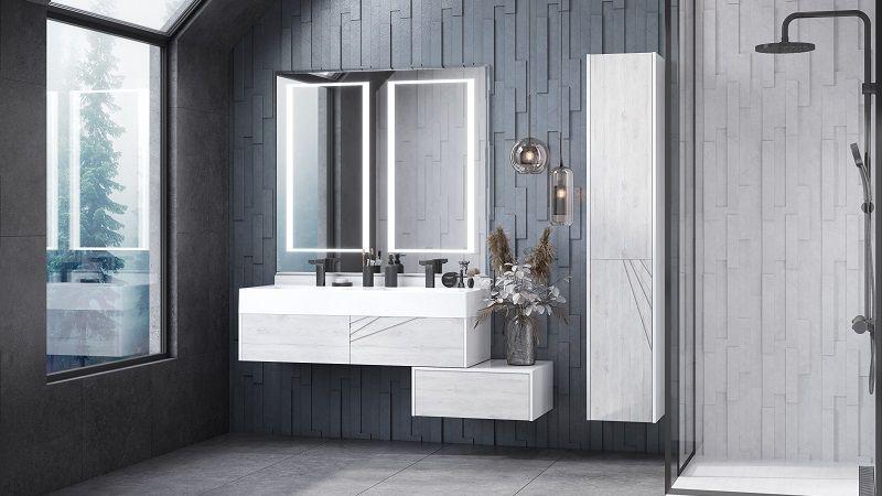 Настенное зеркало в ванную комнату AQUATON САКУРА
