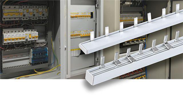 Шины соединительные типа PIN 63 A луженые IEK® – удобное и безопасное соединение групп модульного оборудования
