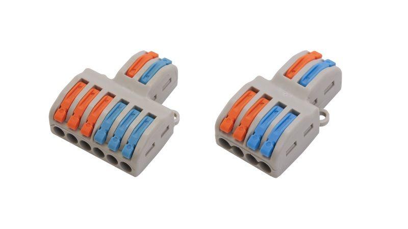 Строительно-монтажные клеммы STEKKER LD222-424 и LD222-426