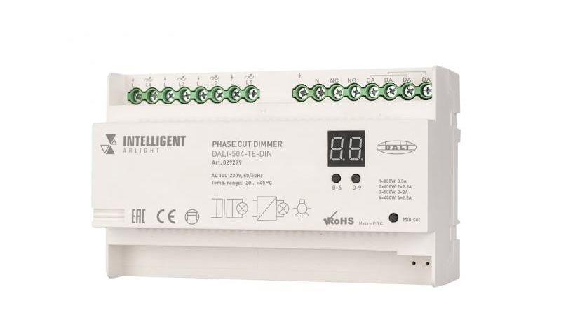Диммер DALI-504-TE-DIN серии INTELLIGENT ARLIGHT - профессиональное решение.