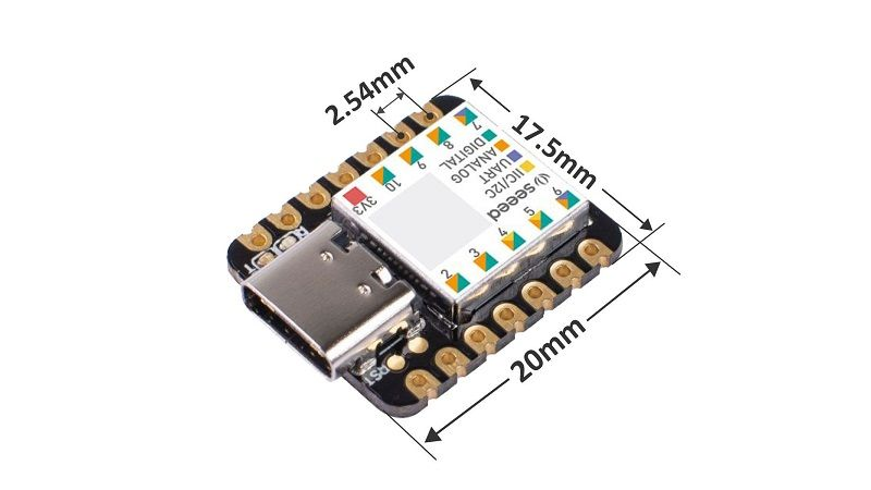 XIAO - SAMD21 48 МГц Cortex M0 32 бит.