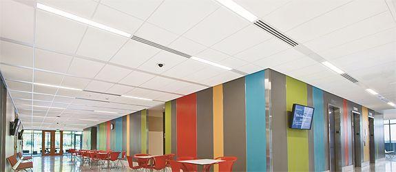 Армстронг TechZone. Потолки для Офисов, Кафе, Бизнес центров.