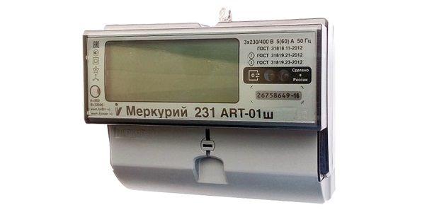Меркурий 231 АRT Ш - Счетчик трёхфазный, многофункциональный.
