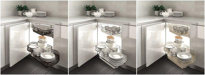 INOXIA ELLITE 845 Combi's. Практичный угловой шкаф для кухни.