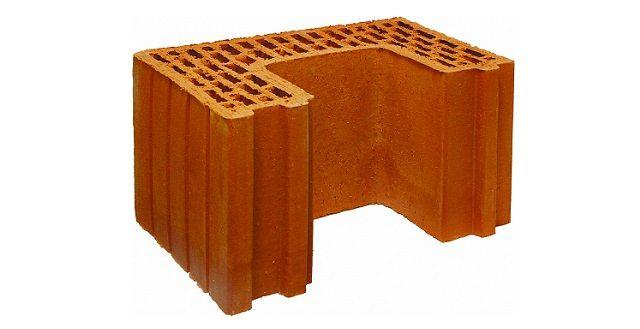 П - образный кирпич. Керамический блок Poromax-380-D-vc