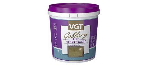 """VGT Gallery """"Кристалл"""" - Новое декоративное покрытие с блестками."""