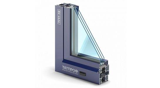 Алюминиевый оконный профиль Татпроф ТПТ-72.
