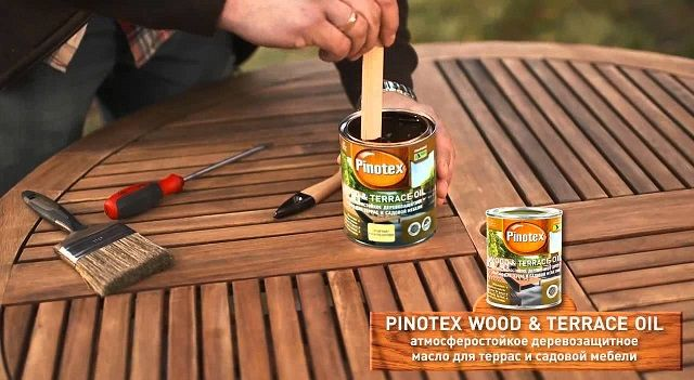 Лак и пропитка Пинотекс. Pinotex Tinova Professional, Pinotex Wood & Terrace Oil.