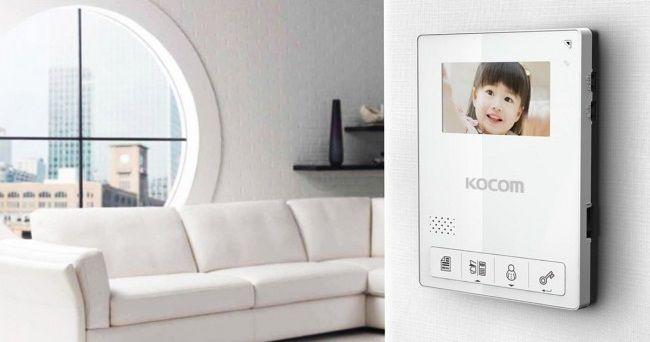 KOCOM KCV 434SD. Новый цветной видеодомофон.
