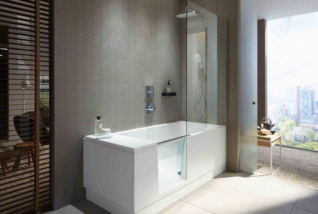 Duravit. Душ и ванна – 2 в 1. Современный дизайн и экономия пространства.