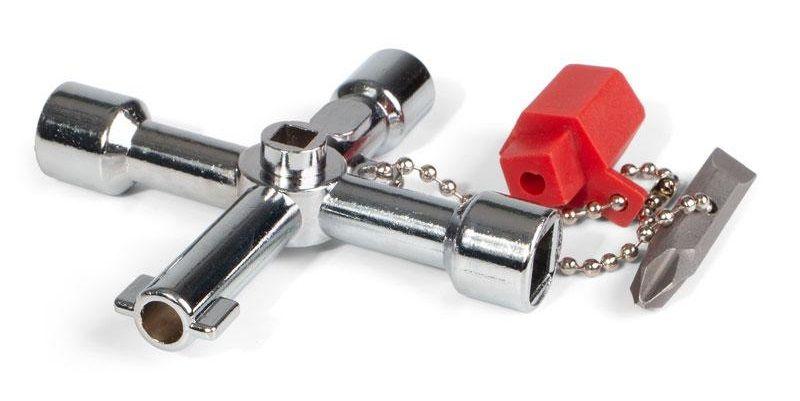 КВТ. Ключ для электрошкафов с 5 профилями и битой «крест/шлиц».