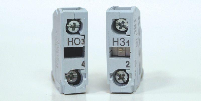 КЭАЗ. Блоки контактов для выключателей КМЕ и переключателей КПЕ.