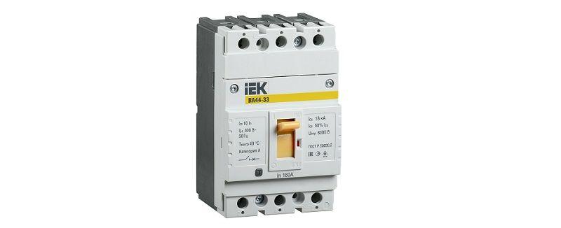 Cиловые выключатели IEK ВА44.  Компактность и надежная защита.