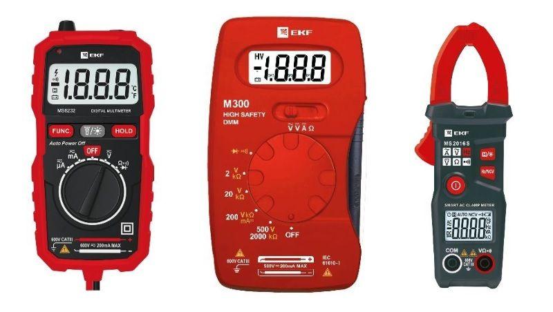 Клещи, мультиметры и термометры. Измерительные приборы серии Expert.