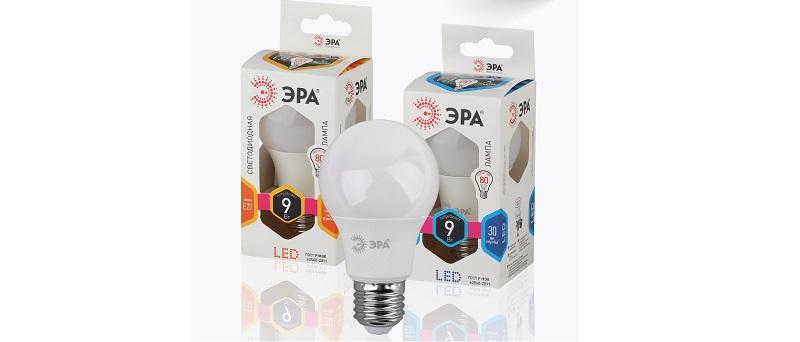 Cветодиодные лампы ЭРА LED A60 с цоколем E27.