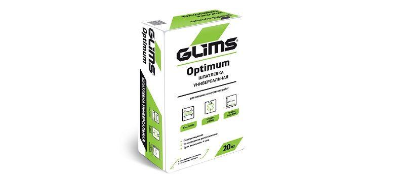 Универсальная полимерная шпаклевка GLIMS Optimum.