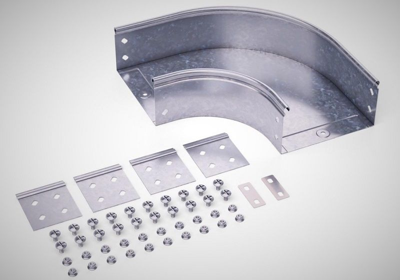 DKC СРО 90. Горизонтальный угол для лотков – DKC S5 Combitech.