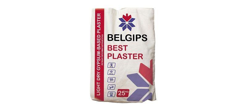 Belgips –штукатурка для выравнивания стен и потолков.