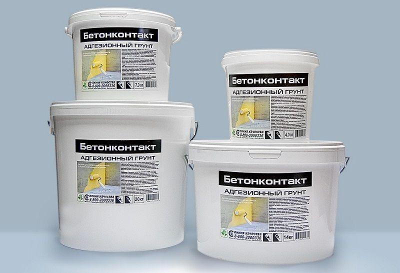 Адгезионный, водно-дисперсионный грунт – Бетон контакт.