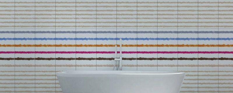 Керамическая плитка Marais - Акварельный рисунок.