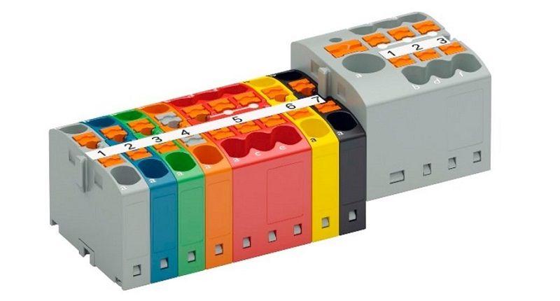 Распределительные блоки PTFIX на 4 кв.мм.