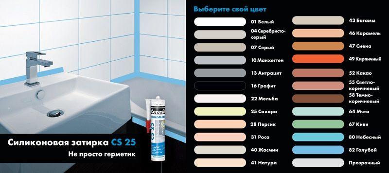 Цветная силиконовая затирка Ceresit CS 25!
