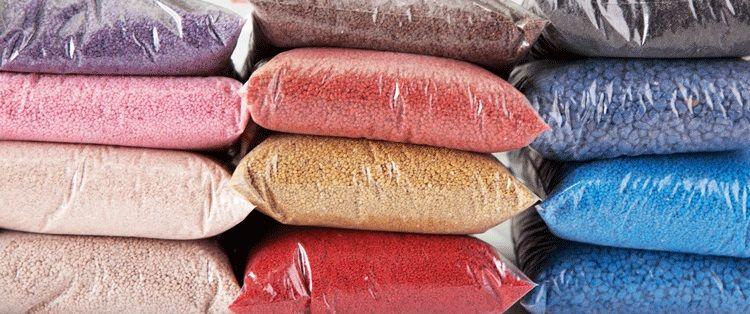 """Цветной песок """"РЕМИКС"""" для мозаичных, штукатурных смесей."""