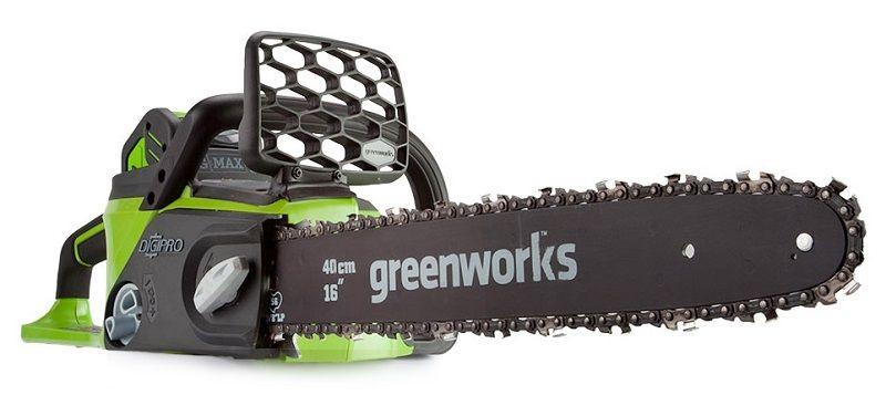 Бесщеточная, аккумуляторная цепная пила - GreenWorks Tools G-MAX 40 V DigiPro.