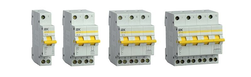 Трехпозиционный выключатель–разъединитель IEK ВРТ-63.