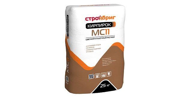 Мелкофракционный кладочный раствор - Стройбриг кирпирок MC11.