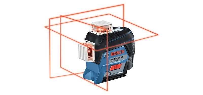 Новинка 2018. Линейный лазерный нивелир Bosch GLL 3-80 CG Professional.